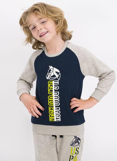 U.S. Polo Assn. Lisanslı Lacivert Erkek Çocuk Eşofman Takımı Lacivert